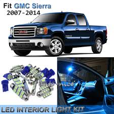 2014 Gmc Sierra Interior Lights 11x Premium Ice Blue Led Interior Lights Kit For 2007 2014 Gmc Sierra
