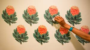 make your own vintage botanical wall decals