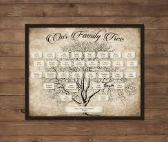 Blank Family Tree Charts Download Custom Family Tree Printable 5 Generation Template Instant Download Editable Fillable Pdf Form Genealogy Print Ancestry Chart Vintage