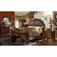king bedroom sets. Plain Sets Vendome 4pc Upholstered Brown Victorian King Bedroom Set In Cherry Intended Sets K