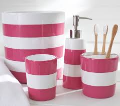 black and pink bathroom accessories. Gorgeous Pink Stripe Bath Accessories Pottery Barn Kids In Fuschia Bathroom Black And E
