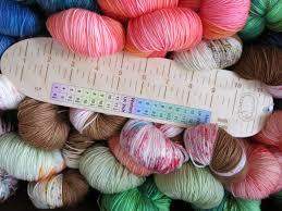 Sockers Rule Birch Wood Sock Knitting Ruler