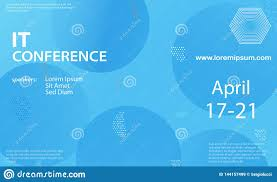 Seminar Design Template Conference Announcement Design Template Stock Vector