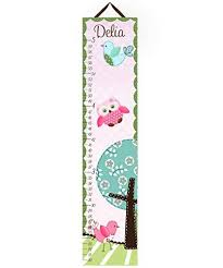 Toad And Lily Growth Chart Toad And Lily Canvas Growth Chart Sweet Little Owl Girls