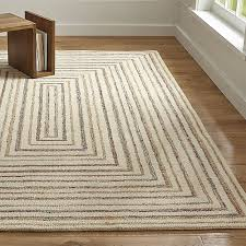artistic crate and barrel rugs della grey cotton flat weave rug