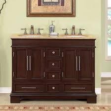 55 inch double sink bathroom vanity:  inch double sink bathroom vanity in dark walnut