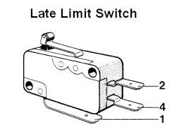 sunroof component testing below are diagrams showing the early and late model sunroof limit switches and wiring connections and a table showing the limit switch positions and