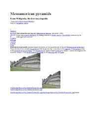 Mesoamerican Pyramids Version Control Websites