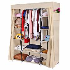 wardrobe racks clothes rack with cover garment rack with cover and wheels cream covered clothes