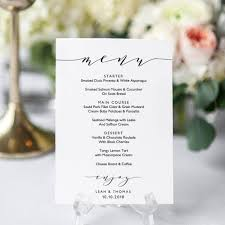 pages menu template wedding menu template 5x7 and full page menu printable menu card