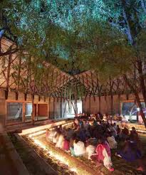 Community Centre Design In India A Buddhist Learning Centre Amongst Rural Groves Community