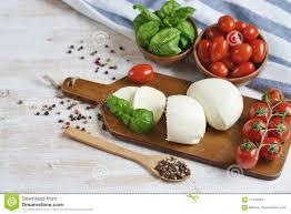Light Mozzarella Cheese Nutrition Mozzarella Cheese With Red Tomatoes And Basil Leaves Pepper