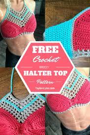 Free Crochet Halter Top Pattern Mesmerizing Breezy Summer Crochet Halter Top Pattern Taylor Lynn