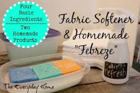 recipes for homemade fabric softener and febreze air freshener by the everyday home