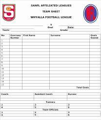 Sample Football Score Sheet Justwait Us