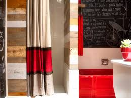 no sew striped shower curtain using dry panels