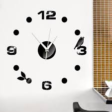office wall clocks large. DIY Wall Clock 3D Sticker Home Office Decor Clocks Large K