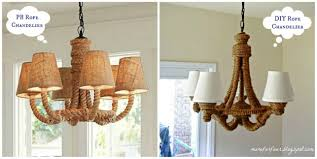 rope chandelier diy pottery barn s