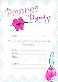 Spa Party Invitations Templates Free Printable Gworld Pro