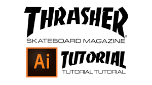 How To Thrasher Logo In Illustrator Youtube
