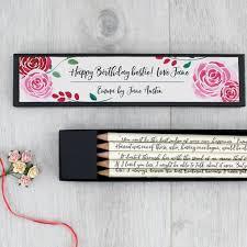 Personalised Emma Jane Austen Quote Pencils
