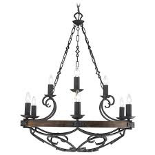 golden lighting madera 9 light chandelier in black iron finish alt3