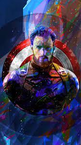 Captain America 4K Abstract Art, HD ...