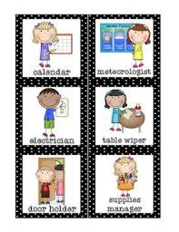 Free Preschool Classroom Job Chart Pictures Classroom Helpers Set Free