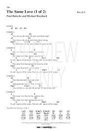 The Same Love Lead Sheet Lyrics Chords Paul Baloche