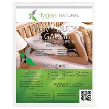 hygea natural hygea natural bed bug box spring cover or mattress cover vinyl waterproof box spring