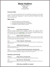 Resume Template  Sample Blank Resume Template Basic Format With Employment History Free Download  Free
