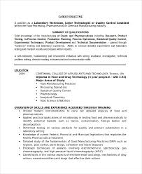 Resume Samples Of Medical Lab Technician With Medical