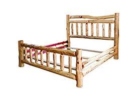 Amazon.com: Rustic Red Cedar Log Bed- QUEEN SIZE - Wagon Wheel ...