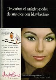 1970 beauty ad maybelline eye make up with beautiful lengua española
