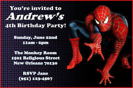 Spiderman Birthday Invitation Templates Free Spiderman Free Printable Invitations Cards Or Photo