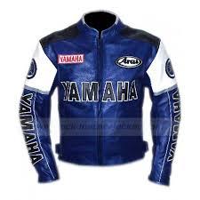 yamaha leather jacket. yamaha racing blue leather motorcycle jacket