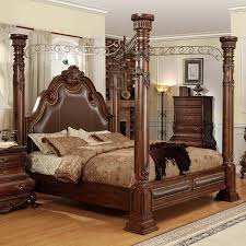 Calidonian Four Poster Canopy Bed in Cherry