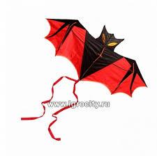 <b>Воздушный</b> змей «Летучая мышь» цвет красный, <b>Bradex</b> (только ...