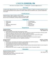 Example Of Nursing Resumes Oncology Nurse Resume Free Letter