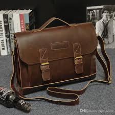 2016 brand designer mens bag genuine vintage leather tote bags messenger bag for men laptop handbag briefcases men business shoulder bag s brief case mens