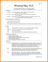 Cv For Doctors Cv Resume Format For Doctors Md Physician Doctor