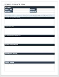 Upward Feedback Form Template Client Word Free Employee