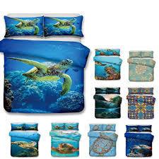 turtle 3d design art bedding set twin full queen king size pillow case quilt cover duvet cover bedding bed bedding set with 65 17 set on molahome s