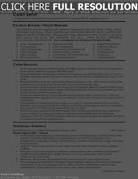 Electrical Engineering Resume Skills Resume Work Template