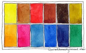 Watercolor Palette Chart 12 Color Watercolor Palette Scratchmade Journal