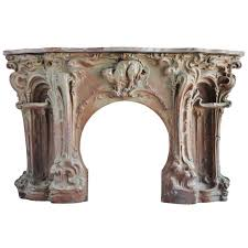french art nouveau period stoneware fireplace late 19th century 1