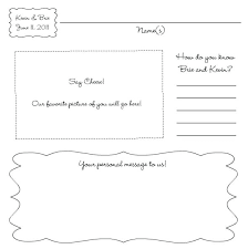 wedding guest book template pages printable