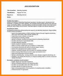 Job Description Marketing Assistant Operations Manager 1 728 Cb ...