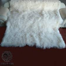 mongolian lamb throws 4 x 6 versatile fur throw blanket many colors rugs