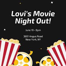 Movie Night Invitation Template Free Movie Night Images Customize 646 Movie Night Invitation Templates